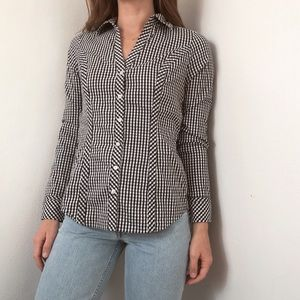 Express gingham button-down shirt